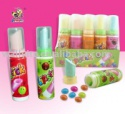 lipstick candy with chocolate bean - product's photo