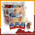half egg chocolate with biscuit - product's photo