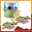 football shape merci chocolate coated filling biscuit - product's photo