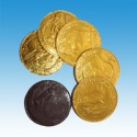 bulk big round gold chocolate coin candy - product's photo