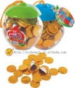 gold chocolate coin - product's photo