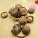 dried brown smooth shiitake mushroom whole - product's photo