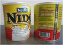 nestle nido milk powder 400gr,900gr,1800gr,2500gr tins  - product's photo